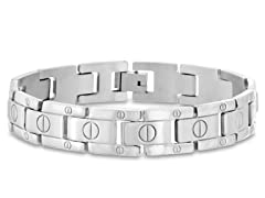Stainless Steal Flat-Screw Bracelet