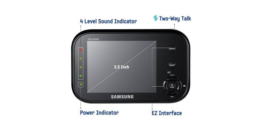 samsung 2 camera baby monitoring system kids toys. Black Bedroom Furniture Sets. Home Design Ideas