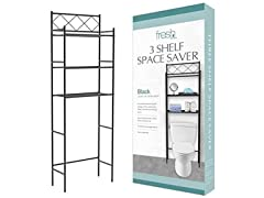 3-Shelf Over The Toilet Bathroom Spaceaver