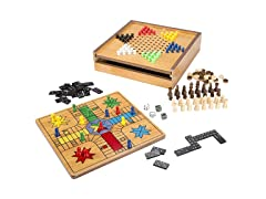 Hey! Play! 7-in-1 Combo Game - Chess, Ludo, Chines