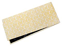 Small Damask Table Runner-Yellow