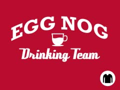Egg Nog Drinking Team Long-Sleeve Tee