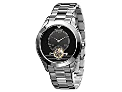 Meccanico Steel Bracelet Black Dial Men
