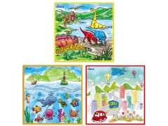 Large Washable Kids Coloring Play Mats- 3PK