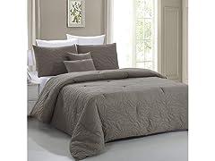 Nottingham Leaf Embossed Comforter Set