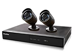 4CH/2 Cam 960H DVR Security System with 500GB HDD