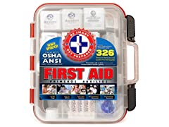 326-Piece Wall Mountable First Aid Kit