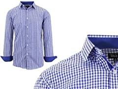 GBH Men's LS Pattern Dress Shirt