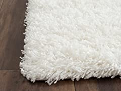 California Shag - White (4 Sizes)