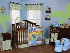 Riley Tiger and Friends Crib Bedding Set- 3 Piece