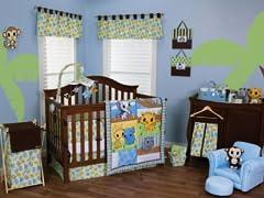3pc Crib Bedding Set - Riley Tiger
