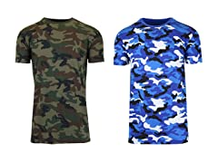 Men's 2-Pack Camo Printed S/S Tee