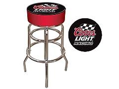 Coors Light Racing Padded Bar Stool