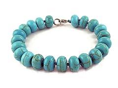 Genuine Turquoise Bead Bracelet