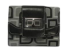 Vecelli Italy Tri-Fold Wallet, Grey