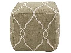 Artistic Weavers Khaki Pouf