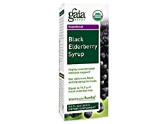 Gaia Herbs Black Elderberry Syrup Supplement, 5.4 Ounce