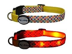 Dog-e-Glow Dots LED Lighted Collar-Medium