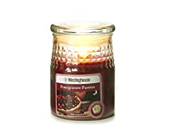 3 LED Wax Jar Flameless Candle Burgundy 3.5x5
