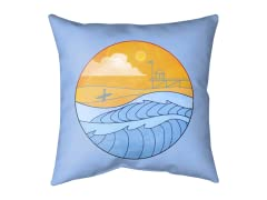 """A Day at the Beach"" Outdoor Cushion"