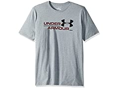 Under Armour Men's Split Branded Short Sleeve Athletic Shirt