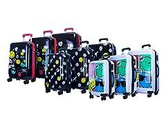 Smiley World Premium Luggage Set (3 Piece)