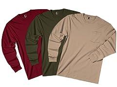 Zorrel 3-Pack Pocketed Long Sleeve Shirt