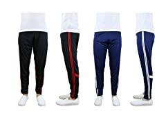 Mens 2PK Moisture Wicking Striped Jogger