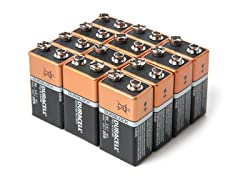 9V Alkaline Batteries - 12 Pack