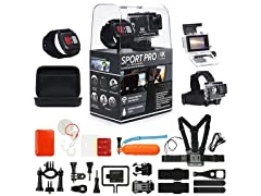 SportPro 4K UHD Sports Camera Bundle + Accessories
