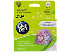 Glue Dots Removable Dots Value Pack Sheets- 1/2 inch- 600PK
