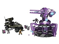 Mega Bloks Halo UNSC Rockethog vs AA Gun Set