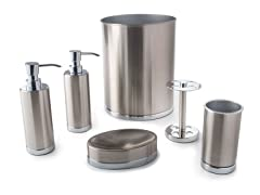 Maddox 6-Piece Brushed Nickel Bath Set