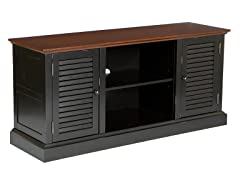 SEI Antebellum Media Stand - Black w/Walnut