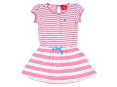 Pink & White Striped Polo Dress (3M-24M)