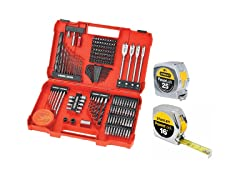 Black & Decker 201-Pc Set with Two Measuring Tapes