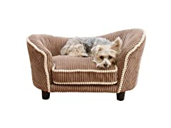 Teddy Corduroy Snuggle Pet Bed - Mocha