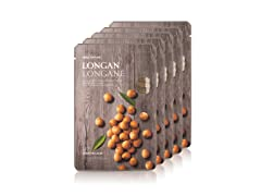 Real Nature Longan Face Mask - 5Pack