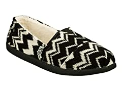 Bobs World The Zig Slipper - Black/White