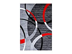 Persian-Rugs 3895 Gray Swirls