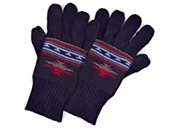 MUK LUKS® Men's Gloves w Texting, Blue