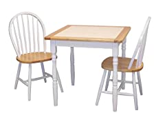 TMS 3pc Tile Top Dining Set