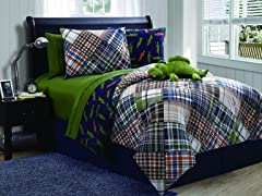 Reversible Bedding Set (Twin or Full) Alligator
