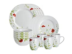 Poppy Valley 16pc Dinner Set