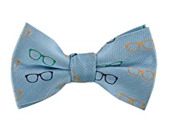 Light Blue Glasses Bowtie