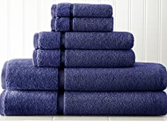 Luxury Spa 100% Cotton 6-Piece Towel Set