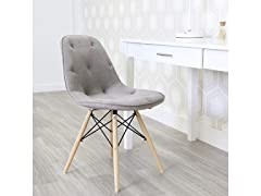 Grey Upholstered Eames Chairs