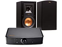 Klipsch Bookshelf Speakers and Powergate Amplifier
