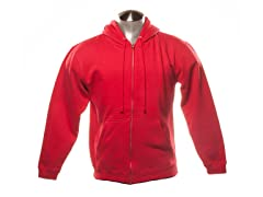 Full Zip-Up Hoodie - Red