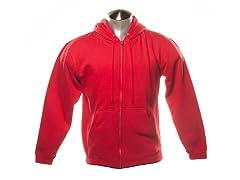 Full Zip-Up Hoodie - Red